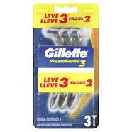 Aparelho de Barbear Descartável Gillette Prestobarba3 Embalagem Leve 3 Pague 2