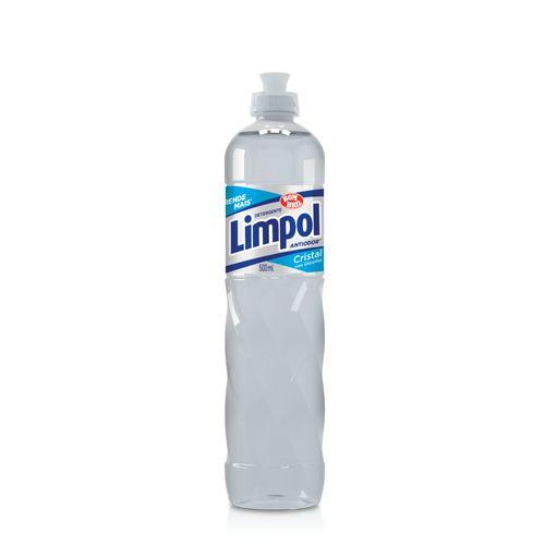 Detergente Limpol Cristal 500ml Detergente para Louças Limpol Biodegradável Cristal 500 ml