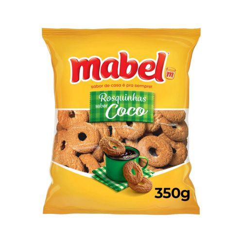 Biscoito Rosquinha Coco Mabel Pacote 350G ROSQUINHA MABEL 350G-PC COCO