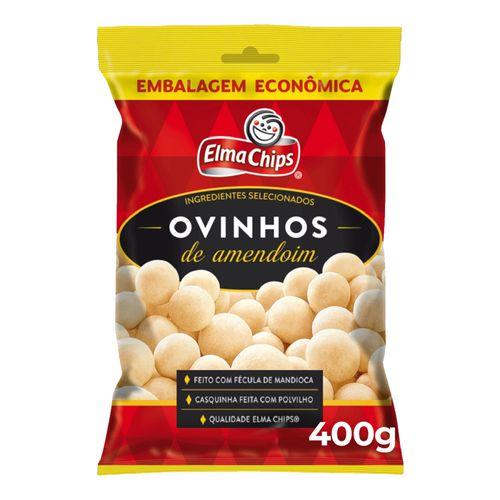 Ovinhos de Amendoim Elma Chips Pacote 400g Embalagem Econômica